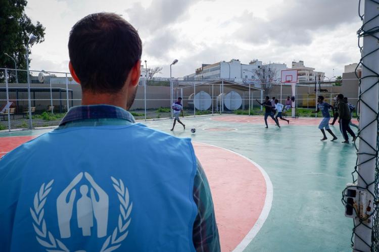 صورة من موقع مفوضية اللاجئين