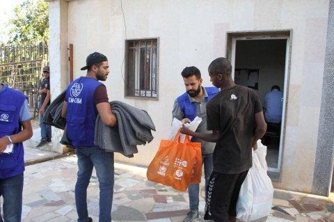 الصورة من صفحة المنظمة الدولية للهجرة