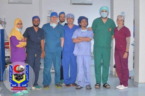 صورة من المركز الإعلامي لمركز طبرق الطبي
