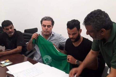 توقيع اللاعب ربيع اللافي مع فريق النصر
