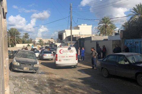 صورة أرشيفية لقصف ميليشيات حفتر على منطقة عرادة