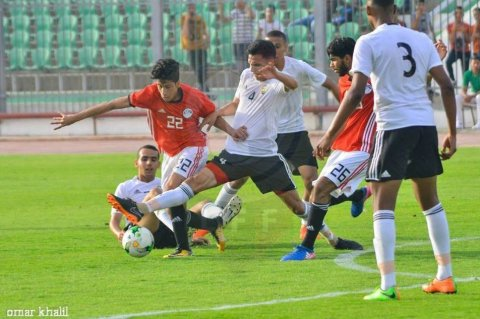 من مباراة شباب ليبيا ونظيره المصري