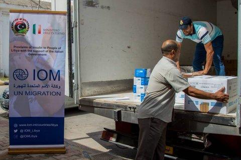 صورة من صفحة منظمة الهجرة الدولية